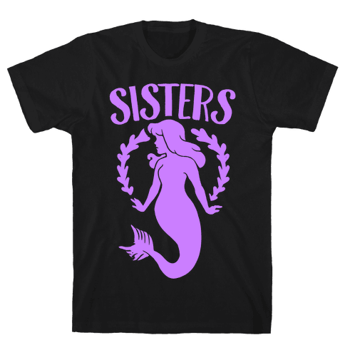 Mermaid Sisters (Purple) Mens T-Shirt