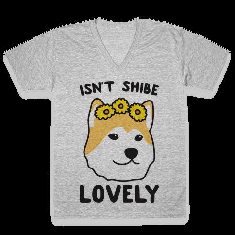 Isn't Shibe Lovely? Shiba Ibu V-Neck Tee Shirt