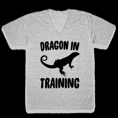 Dragon In Training  V-Neck Tee Shirt