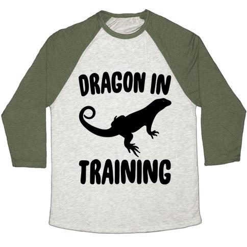 Dragon In Training  Baseball Tee