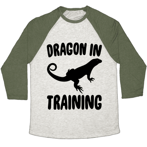 Dragon In Training  Baseball Tee