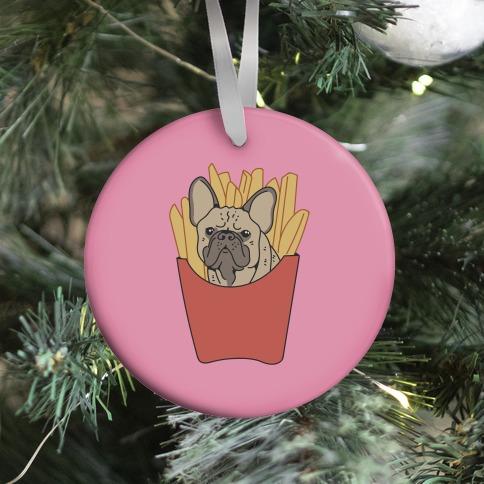 French Fry French Bulldog Ornament