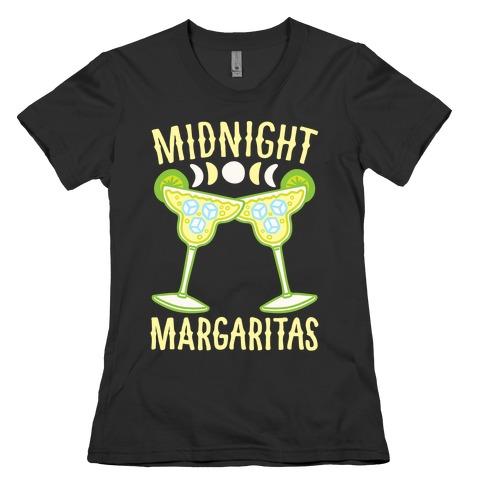 Midnight Margaritas White Print Womens T-Shirt