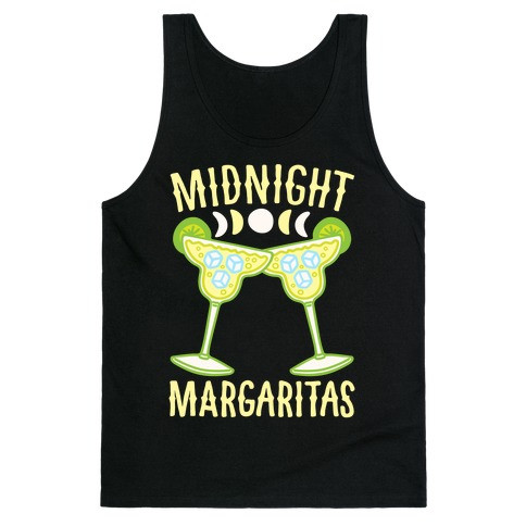 Midnight Margaritas White Print Tank Top