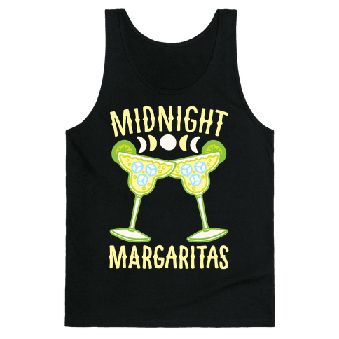 Midnight Margaritas White Print Tank Top