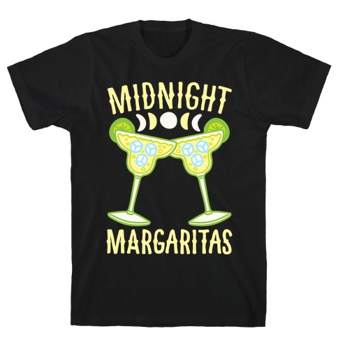 Midnight Margaritas White Print T-Shirt