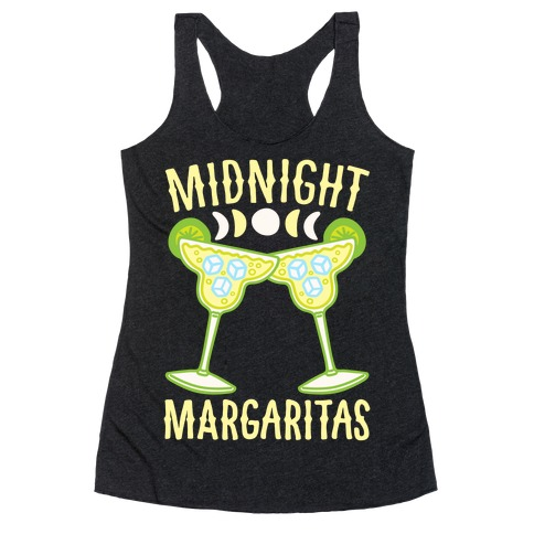 Midnight Margaritas White Print Racerback Tank Top