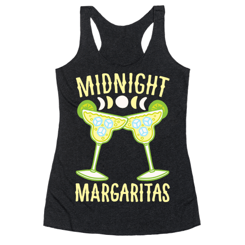 Midnight Margaritas White Print Racerback Tank Top