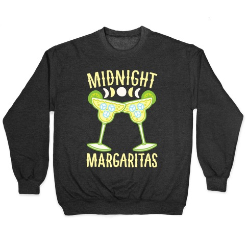 Midnight Margaritas White Print Pullover