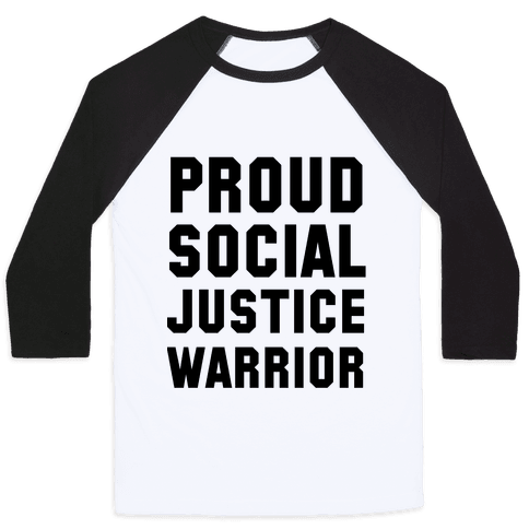 Proud Social Justice Warrior Baseball Tee