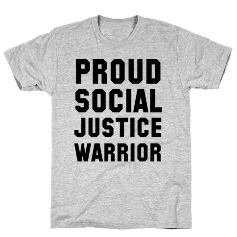 Proud Social Justice Warrior Mens T-Shirt