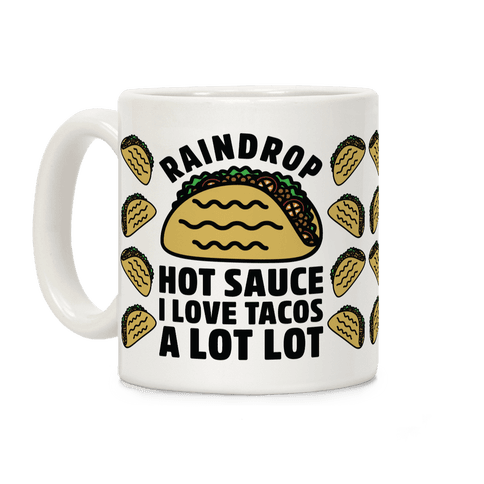 Raindrop Hot Sauce Coffee Mug