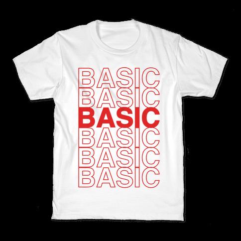 Basic Thank You Grocery Bag Parody Kids T-Shirt