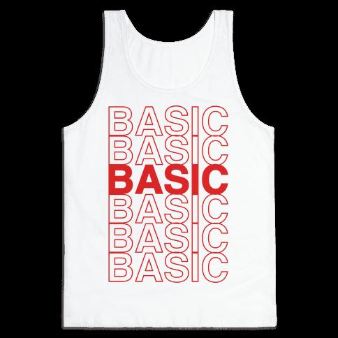 Basic Thank You Grocery Bag Parody Tank Top