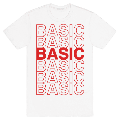 Basic Thank You Grocery Bag Parody Mens T-Shirt