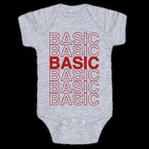 Basic Thank You Grocery Bag Parody Baby Onesy