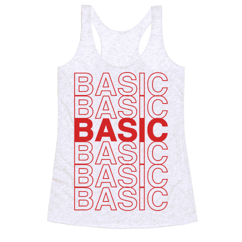 Basic Thank You Grocery Bag Parody Racerback Tank Top