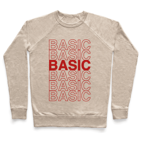 Basic Thank You Grocery Bag Parody Pullover