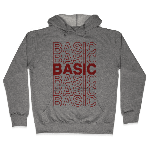 Basic Thank You Grocery Bag Parody Hooded Sweatshirt