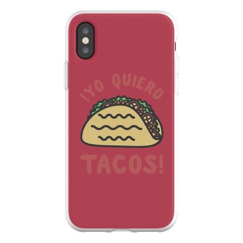 Yo Quiro Tacos Phone Flexi-Case