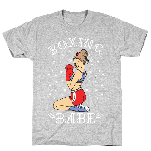 Boxing Babe Mens T-Shirt
