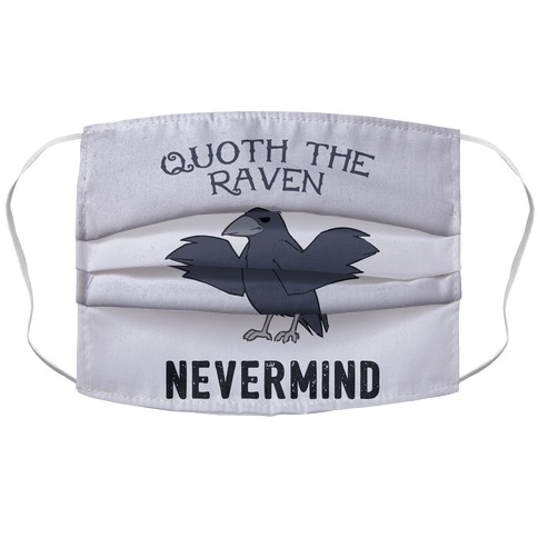 Quoth The Raven: Nevermind Accordion Face Mask