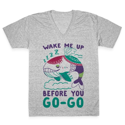 Wake Me Up Before You Go-Go - Wind Fish V-Neck Tee Shirt