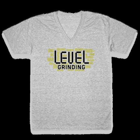 Level Grinding  V-Neck Tee Shirt