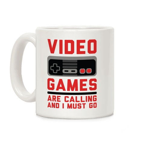 Video Games Are Calling Coffee Mug