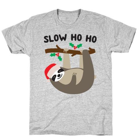 Slow Ho Ho Santa Sloth T-Shirt