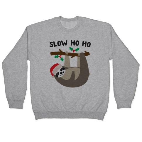 Slow Ho Ho Santa Sloth Pullover