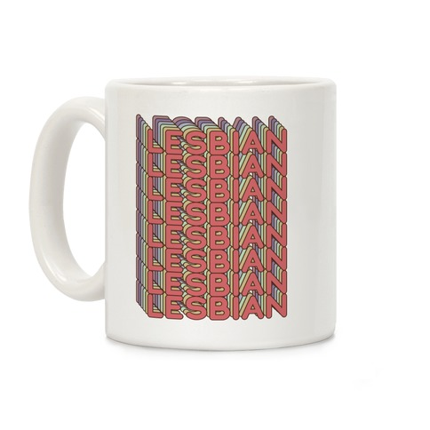 Lesbian Retro Rainbow Coffee Mug