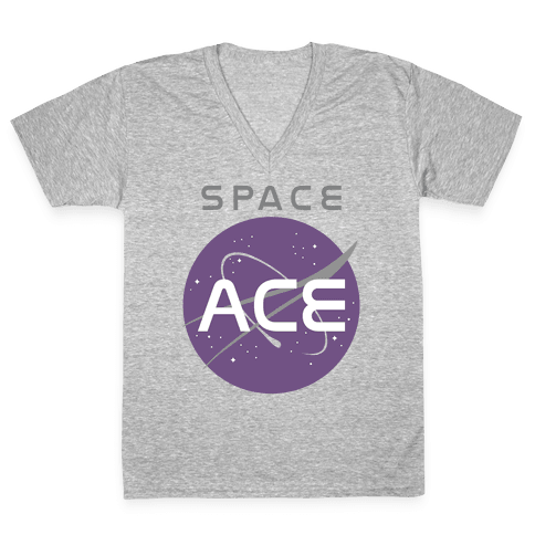 Space Ace V-Neck Tee Shirt