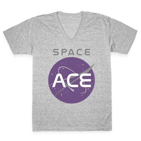 1bcc275e Space Ace V-Neck Tee | LookHUMAN
