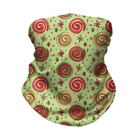 Christmas Pinwheel Cookies Neck Gaiter