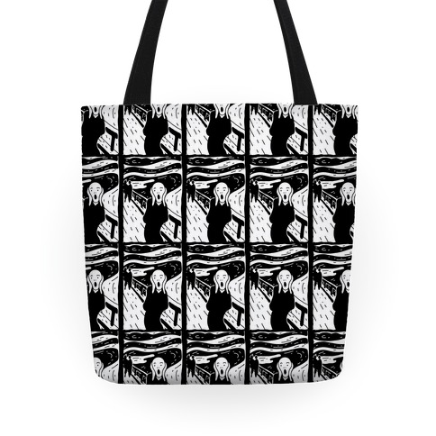 The Scream Pop Art Pattern Tote