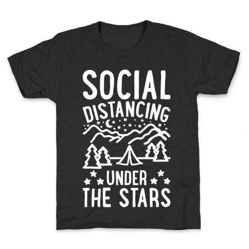 Social Distancing Under The Stars White Print Kids T-Shirt
