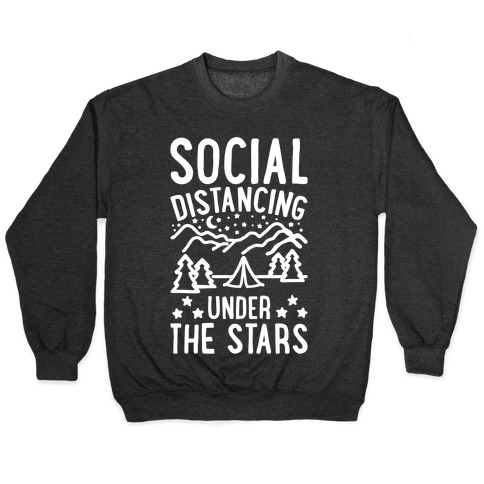 Social Distancing Under The Stars White Print Pullover