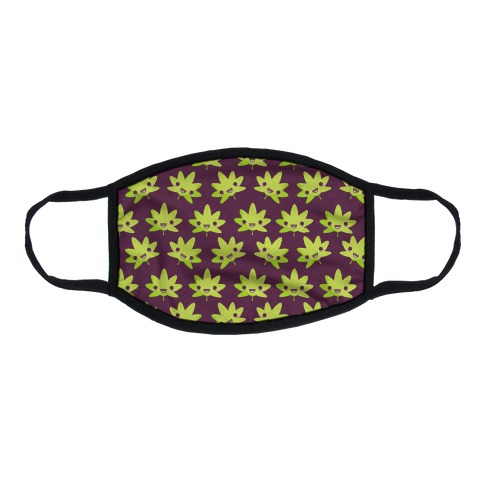 Kawaii Pot Leaf Flat Face Mask
