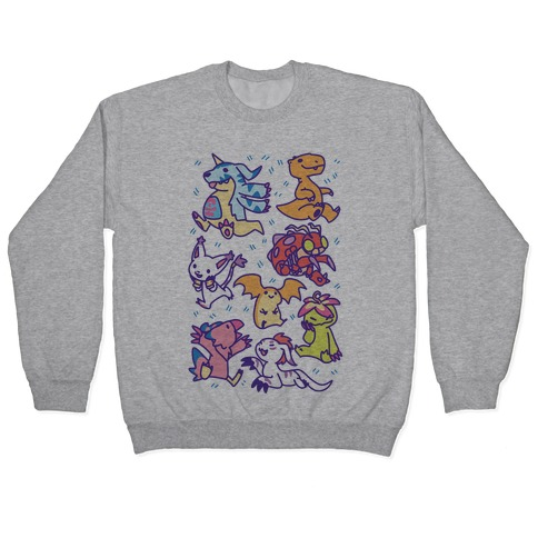 Digital Monsters Pattern Pullover