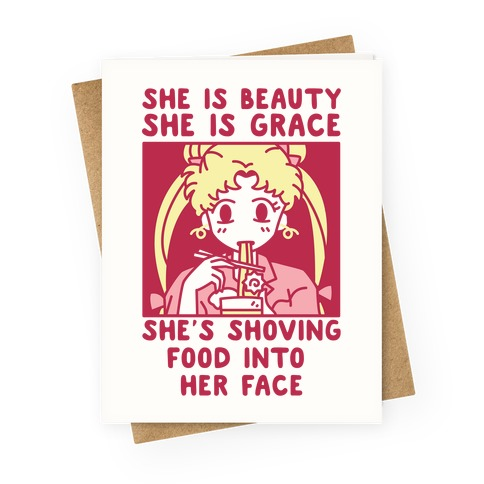 She Is Beauty Usagi Greeting Card