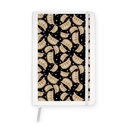 Dumplings Pattern Black Notebook