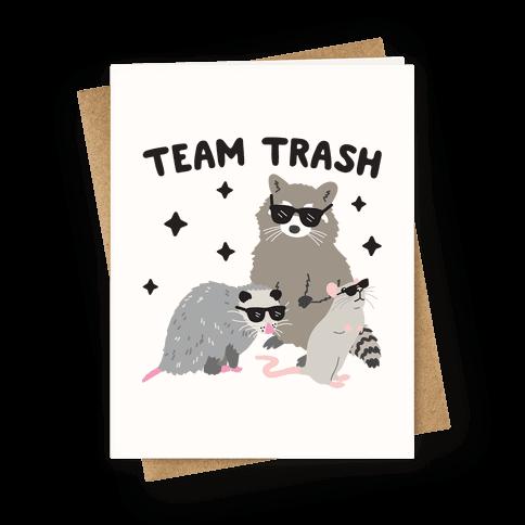 Team Trash Opossum Raccoon Rat Greeting Card