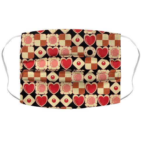 Gamer Cookies Pattern Face Mask Cover