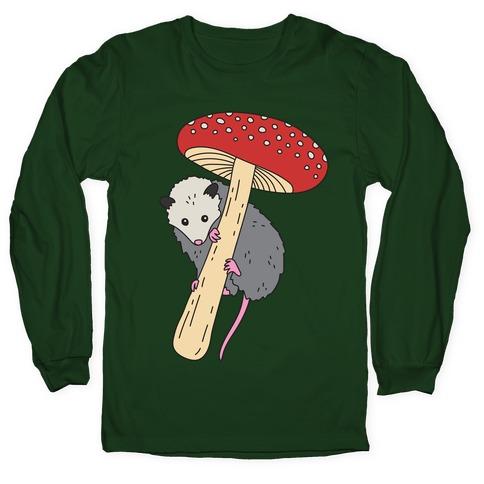 Opossum Mushroom Long Sleeve T-Shirt