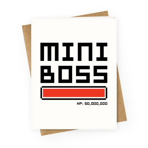 Mini boss greeting card lookhuman mini boss greetingcard m4hsunfo