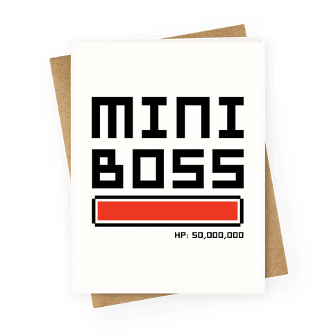Mini Boss Greeting Card