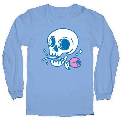 Hopeless Romantic Skull Long Sleeve T-Shirt