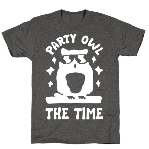 Party Owl The Time T-Shirt