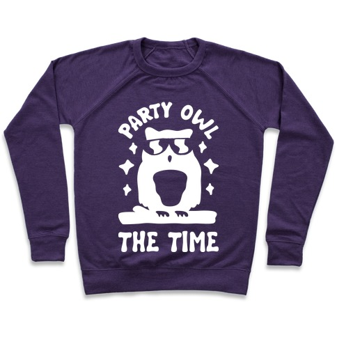 Party Owl The Time Pullover